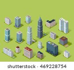 skyscraper logo building icon.... | Shutterstock . vector #469228754