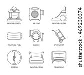 vector mono line icons set of... | Shutterstock .eps vector #469230374