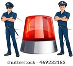 Police Officers And Siren Light ...