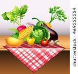 fresh vegetables and fruit on...   Shutterstock .eps vector #469232234