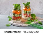 healthy homemade mason jar... | Shutterstock . vector #469239920