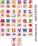 english alphabets a to z with... | Shutterstock .eps vector #469239950