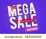 3d text mega sale with red... | Shutterstock .eps vector #469263344