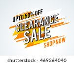 clearance sale with upto 50 ... | Shutterstock .eps vector #469264040