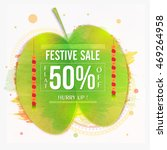 dussehra festive sale with flat ... | Shutterstock .eps vector #469264958