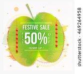 dussehra festive sale with flat ... | Shutterstock .eps vector #469264958
