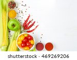 a detox food and healthy energy ... | Shutterstock . vector #469269206