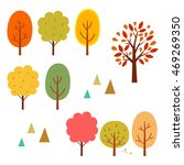 autumn trees elements | Shutterstock .eps vector #469269350