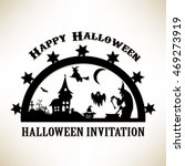 happy halloween invitation.... | Shutterstock .eps vector #469273919