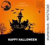 happy halloween poster on... | Shutterstock .eps vector #469276160