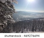 view from peak of mountain | Shutterstock . vector #469276694