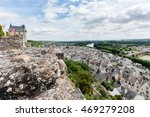 chinon walled castle. chinon is ...