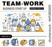 modern team work pack. thin... | Shutterstock .eps vector #469280000