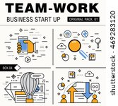 modern team work pack. thin... | Shutterstock .eps vector #469283120