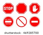 stop sign set  isolated on... | Shutterstock . vector #469285700