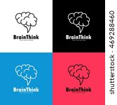 smart creative brain logo... | Shutterstock .eps vector #469288460