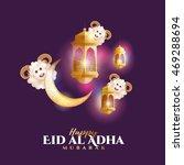 vector illustration. muslim... | Shutterstock .eps vector #469288694