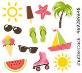 set of summer icons. raster... | Shutterstock . vector #469289648