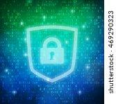 safety computer digital data... | Shutterstock .eps vector #469290323