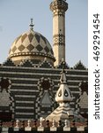 Small photo of the Abu Darwish mosque in the city of amman in jordan im the middle east