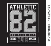 athletic sport typography  t... | Shutterstock .eps vector #469291496