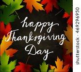happy thanksgiving day | Shutterstock .eps vector #469296950
