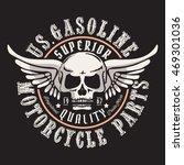 Motorcycle Gasoline Skull...