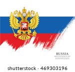flag of russia. russian flag.... | Shutterstock .eps vector #469303196