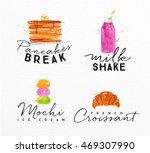 set of watercolor labels...   Shutterstock .eps vector #469307990