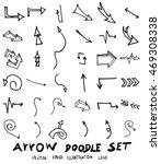 vector hand drawn arrows set | Shutterstock .eps vector #469308338