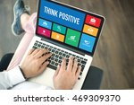 people using laptop in an... | Shutterstock . vector #469309370