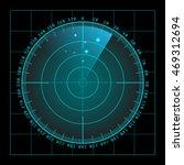 blue radar screen with targets...   Shutterstock .eps vector #469312694