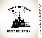 trick or treat. happy halloween ... | Shutterstock .eps vector #469319066
