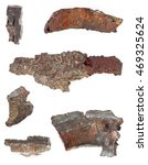 real shrapnels from exploded... | Shutterstock . vector #469325624