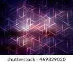 vector abstract science... | Shutterstock .eps vector #469329020