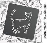 cat doodle   Shutterstock .eps vector #469331600