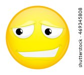 uncertainly smiling emoji....   Shutterstock .eps vector #469345808