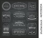 vintage labels ans signs on... | Shutterstock .eps vector #469358354