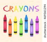 Crayons Set Rainbow Color Back...