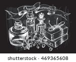 composition with glass bottles  ...   Shutterstock .eps vector #469365608