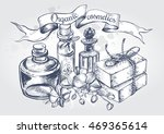 composition with glass bottles  ...   Shutterstock .eps vector #469365614