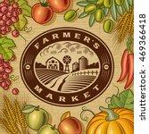 vintage farmers market label.... | Shutterstock .eps vector #469366418