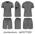 men's black short sleeve t... | Shutterstock .eps vector #469377350