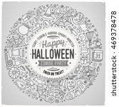 line art vector hand drawn set... | Shutterstock .eps vector #469378478