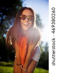 beautiful hipster girl in...   Shutterstock . vector #469380260