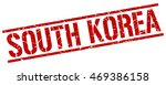 south korea stamp. red square... | Shutterstock .eps vector #469386158