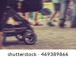 crowd of people walking on the...   Shutterstock . vector #469389866