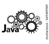 monochrome logo for java... | Shutterstock .eps vector #469389989