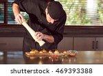 restaurant hotel private chef...   Shutterstock . vector #469393388