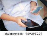 woman asian using smartphone